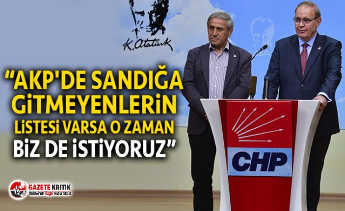 CHP: YSK, oy vermeyen seçmenlerin listesini AKP'ye verdiyse biz de istiyoruz