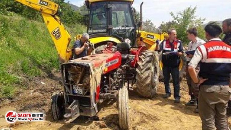 Devrilen traktörünün altında kalan çiftçi öldü