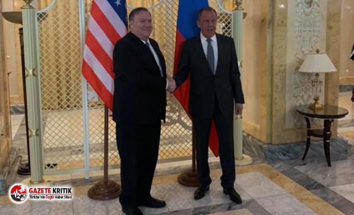 Lavrov, Pompeo ile görüşmesi başladı