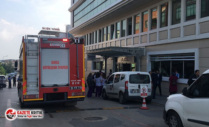 Özel hastanede yangın paniği