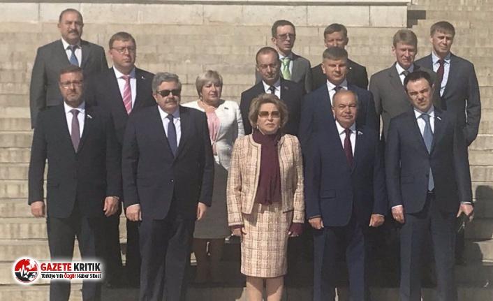 Rusya Federasyon Konseyi Başkanı Matviyenko'dan Anıtkabir ziyareti