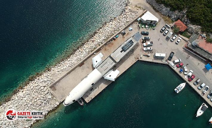 Saros Körfezi'ne batırılacak dev yolcu uçağının montajında sona gelindi