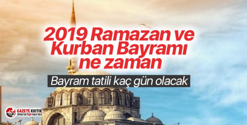 2019 Kurban Bayramı Bayramı ne zaman başlıyor?