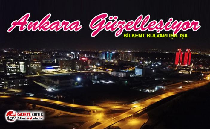 Ankara'da Bilkent bulvarı ışıl ışıl
