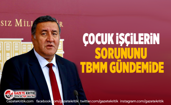 CHP Milletvekili Gürer, çocuk işçilerin sorununu TBMM gündemine taşıdı