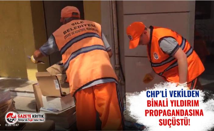 CHP'Lİ VEKİLDEN BİNALİ YILDIRIM PROPAGANDASINA SUÇÜSTÜ!