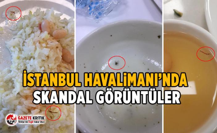 İstanbul Havalimanı'nda skandal görüntüler