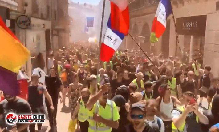 Sarı Yelekliler protestosu 30'uncu haftasında