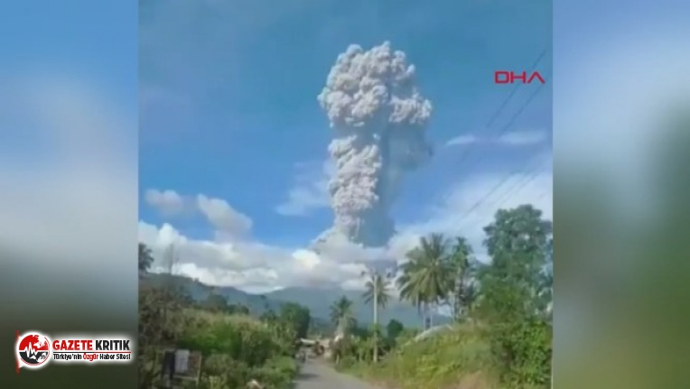 Sinabung yanardağı patladı, külleri 7 bin metreye kadar yükseldi