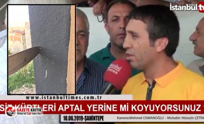 """Sokak röportajında AKP'yi eleştirerek, """"Siz Kürtleri aptal mı sanıyorsunuz?"""" diyen vatandaş bıçakla tehdit edilmiş"""