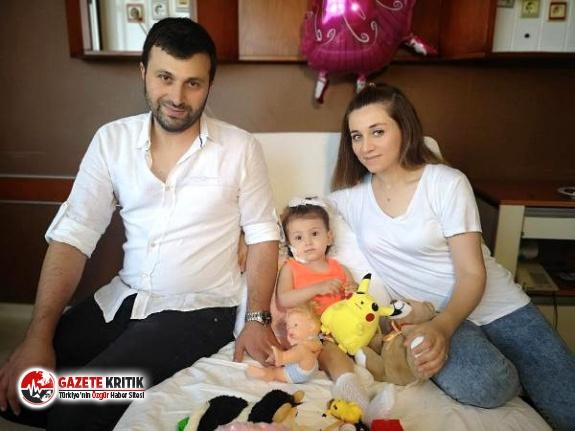 2 yaşındaki Melisa'ya 32 yaşındaki babasından böbrek