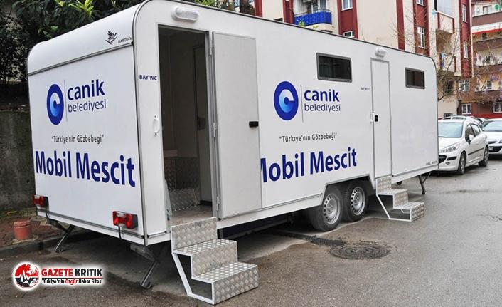 """AKP'li belediyenin """"Mobil Mescit""""i hizmete girdi"""
