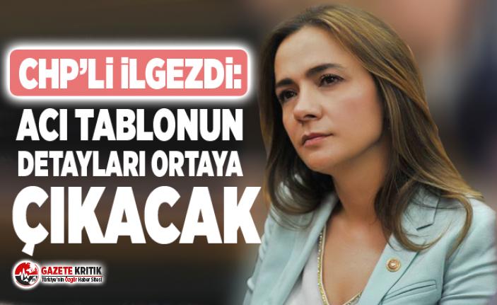 CHP'li Gamze Akkuş İlgezdi: Acı tablonun detayları ortaya çıkacak