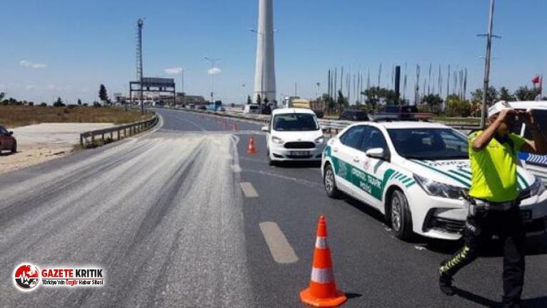 D-100 Karayolu Ankara yönü trafiğe kapatıldı