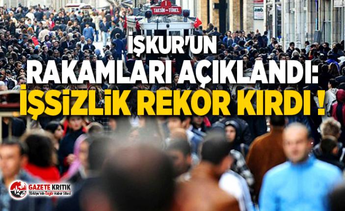 İŞKUR'un rakamları açıklandı: İşsizlik rekor kırdı !