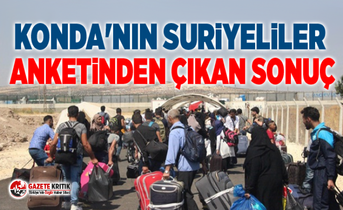 KONDA'nın Suriyeliler anketinden çıkan sonuç