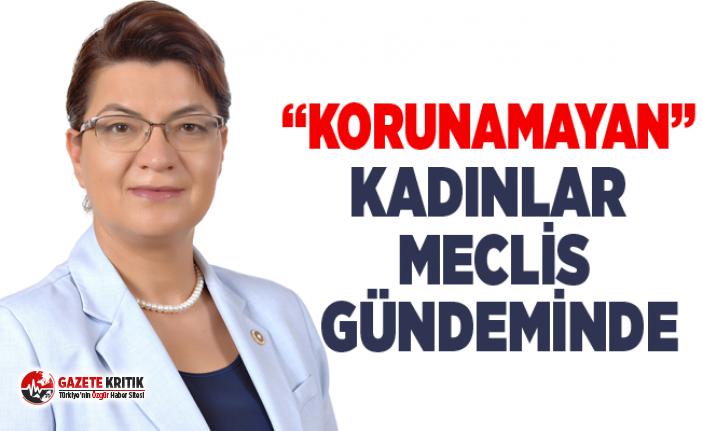 """KORUNAMAYAN"" KADINLAR MECLİS GÜNDEMİNDE"