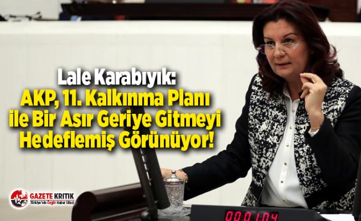 Lale Karabıyık:AKP, 11. Kalkınma Planı ile Bir Asır Geriye Gitmeyi Hedeflemiş Görünüyor!