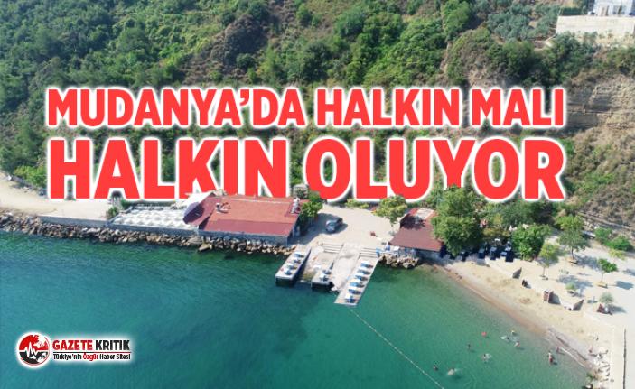 MUDANYA'DA HALKIN MALI HALKIN OLUYOR
