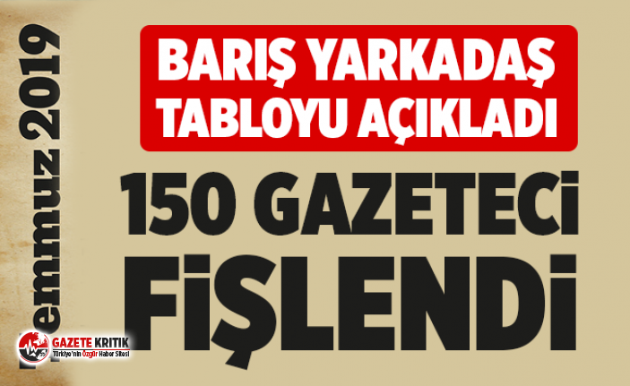 """""""Temmuz'da 39 gazeteci hakim karşısına çıktı, 150 gazeteci fişlendi"""""""