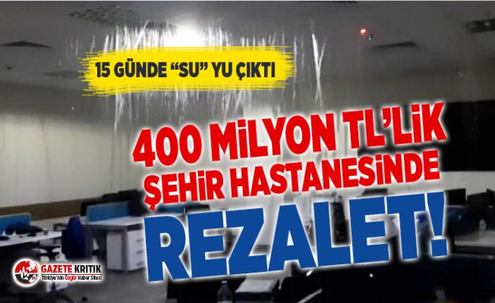 Yeni açılan milyon dolarlık Bursa Şehir Hastanesi'ni su bastı