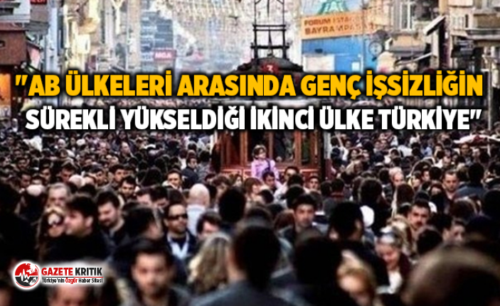 """""""AB ülkeleri arasında genç işsizliğin sürekli yükseldiği ikinci ülke Türkiye"""""""