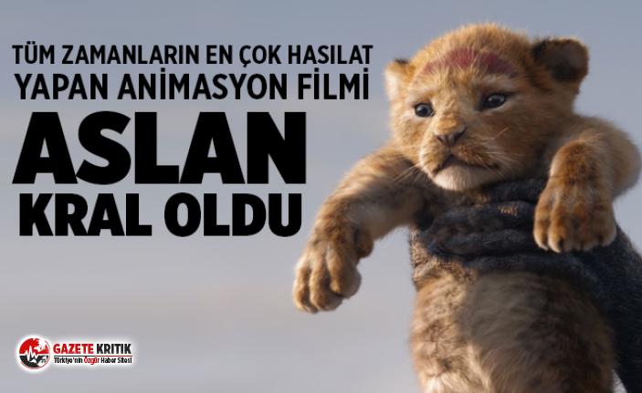 Aslan Kral tüm zamanların en çok hasılat yapan animasyon filmi oldu!