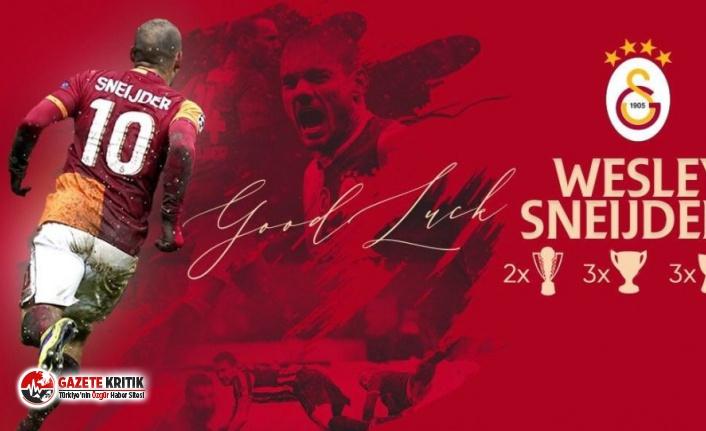 Galatasaray'dan futbolu bırakan Sneijder'e teşekkür