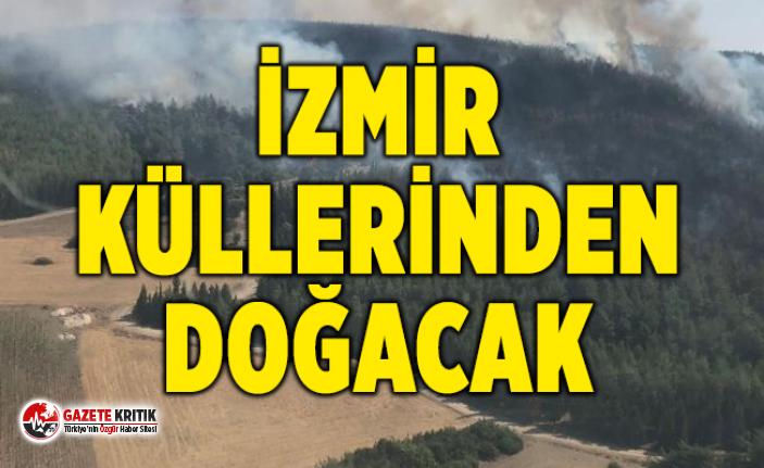 İzmir Büyükşehir Belediyesi: Yaklaşık olarak Karşıyaka kadar büyük bir alan yandı