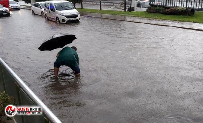 Kocaeli'de yağmur etkili oldu