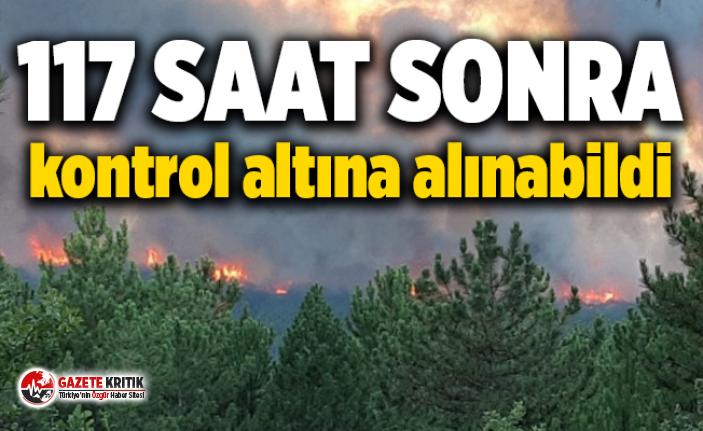 Kütahya'da orman yangını 17 saat sonra kontrol altında