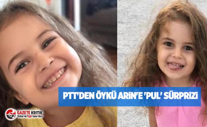 PTT'den Öykü Arin'e 'pul' sürprizi