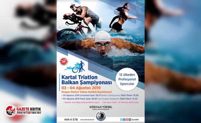 Triatlon Balkan Şampiyonası Heyecanı Kartal'da Yaşanacak