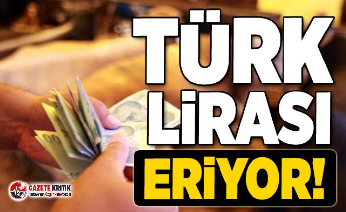 Türk Lirası eriyor! Dünyanın en çok değer kaybeden 2. parası TL !
