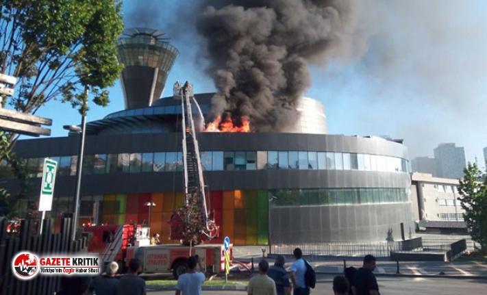 Üsküdar Bilim Merkezi'nde korkutan yangın