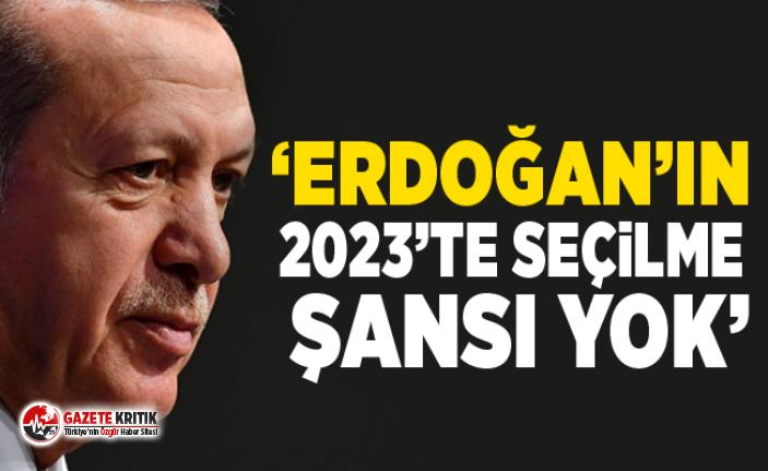 ''2023'te Erdoğan'ın seçilme şansı yok''