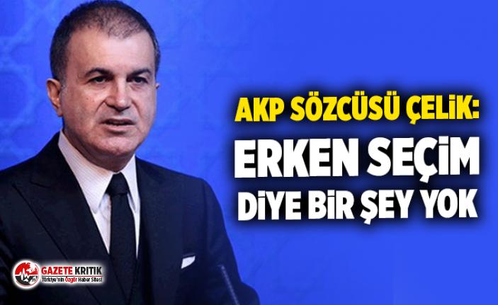 AKP Sözcüsü Çelik: Erken seçim diye bir şey yok