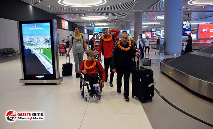 Avrupa üçüncüsü Tekerlekli Sandalye Basketbol Takımı yurda döndü