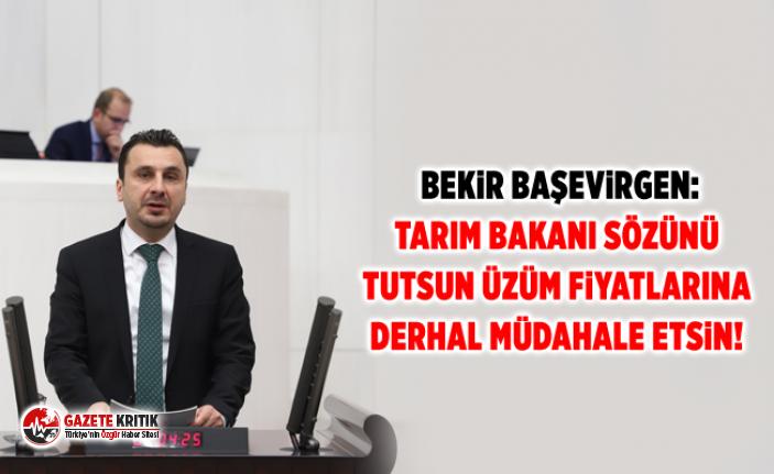 Bekir Başevirgen:Tarım Bakanı Sözünü Tutsun Üzüm Fiyatlarına Derhal Müdahale Etsin!