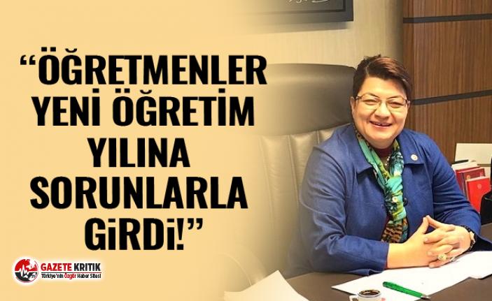 CHP'Lİ ŞAHİN: ÖĞRETMENLER YENİ ÖĞRETİM YILINA SORUNLARLA GİRDİ !