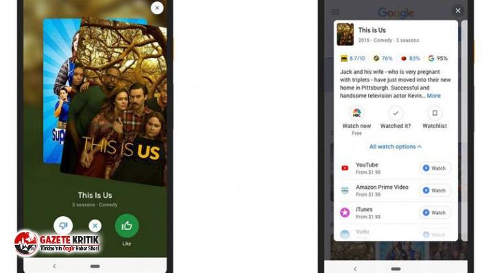 Google, Tinder mantığıyla çalışan film öneri uygulaması geliştirdi