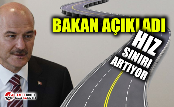 İçişleri Bakanı Soylu: Otoyollarda hız sınırının artırılması için çalışma yapıyoruz