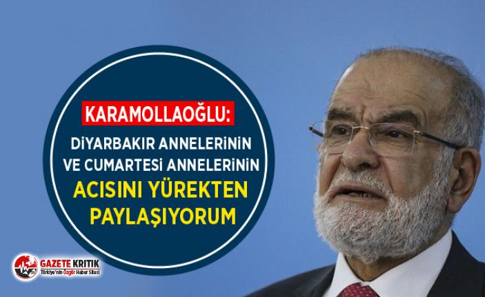 Karamollaoğlu: Diyarbakır annelerinin ve Cumartesi annelerinin acısını yürekten paylaşıyorum