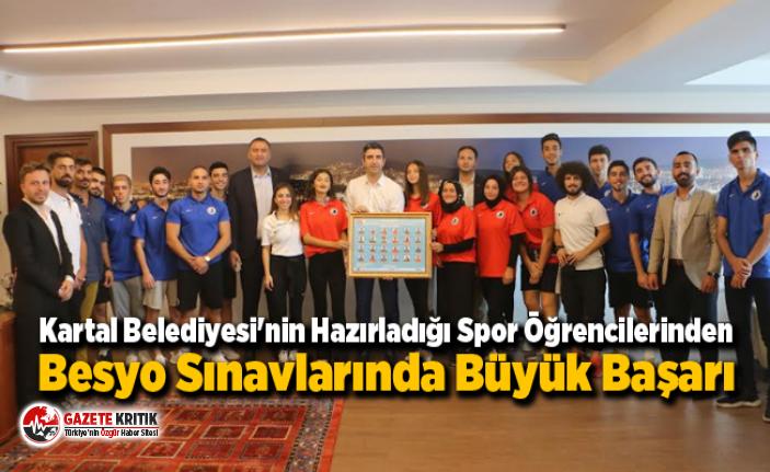 Kartal Belediyesi'nin Hazırladığı Spor Öğrencilerinden Besyo Sınavlarında Büyük Başarı