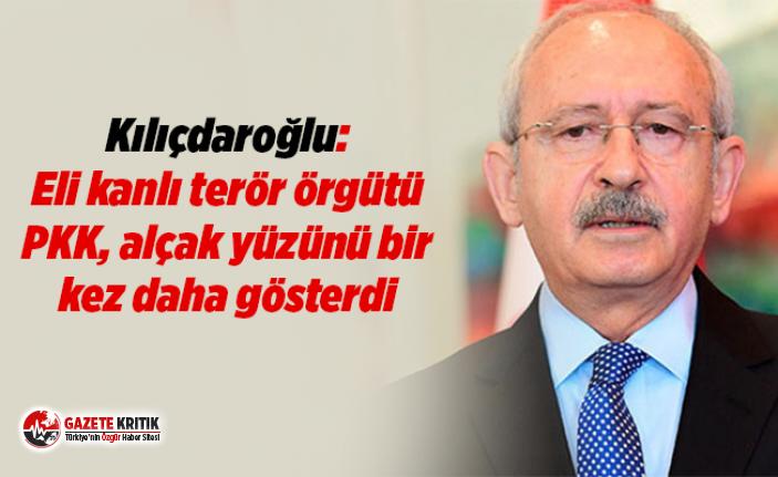 Kılıçdaroğlu: Eli kanlı terör örgütü PKK, alçak yüzünü bir kez daha gösterdi