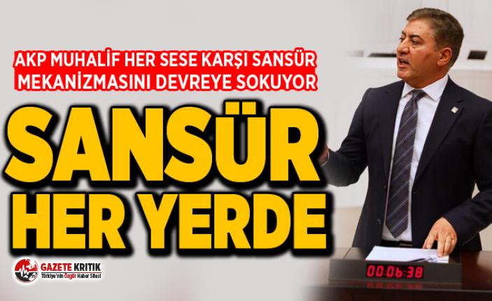 MURAT EMİR:AKP MUHALİF HER SESE KARŞI SANSÜR MEKANİZMASINI DEVREYE SOKUYOR