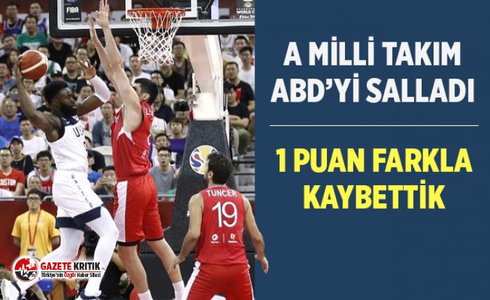 Türkiye A Milli Basketbol Takımı, ABD'yi salladı ama deviremedi: 93-92