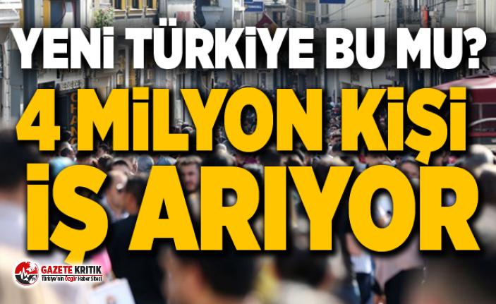 Yeni Türkiye Bu Mu?4 milyon kişi iş arıyor