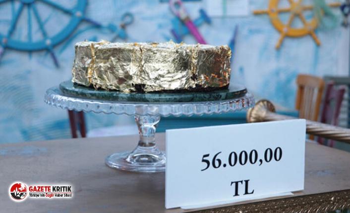 340 gram altın kullanıldı; işte Türkiye'nin en pahalı pastası!