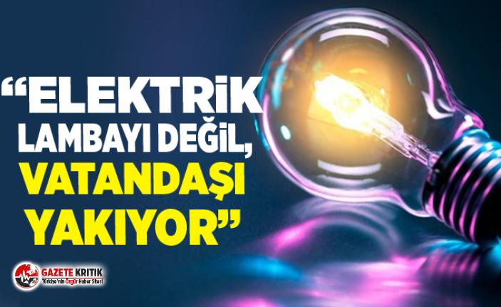"""CHP'li Gürer: """"Elektrik lambayı değil, vatandaşı yakıyor"""""""